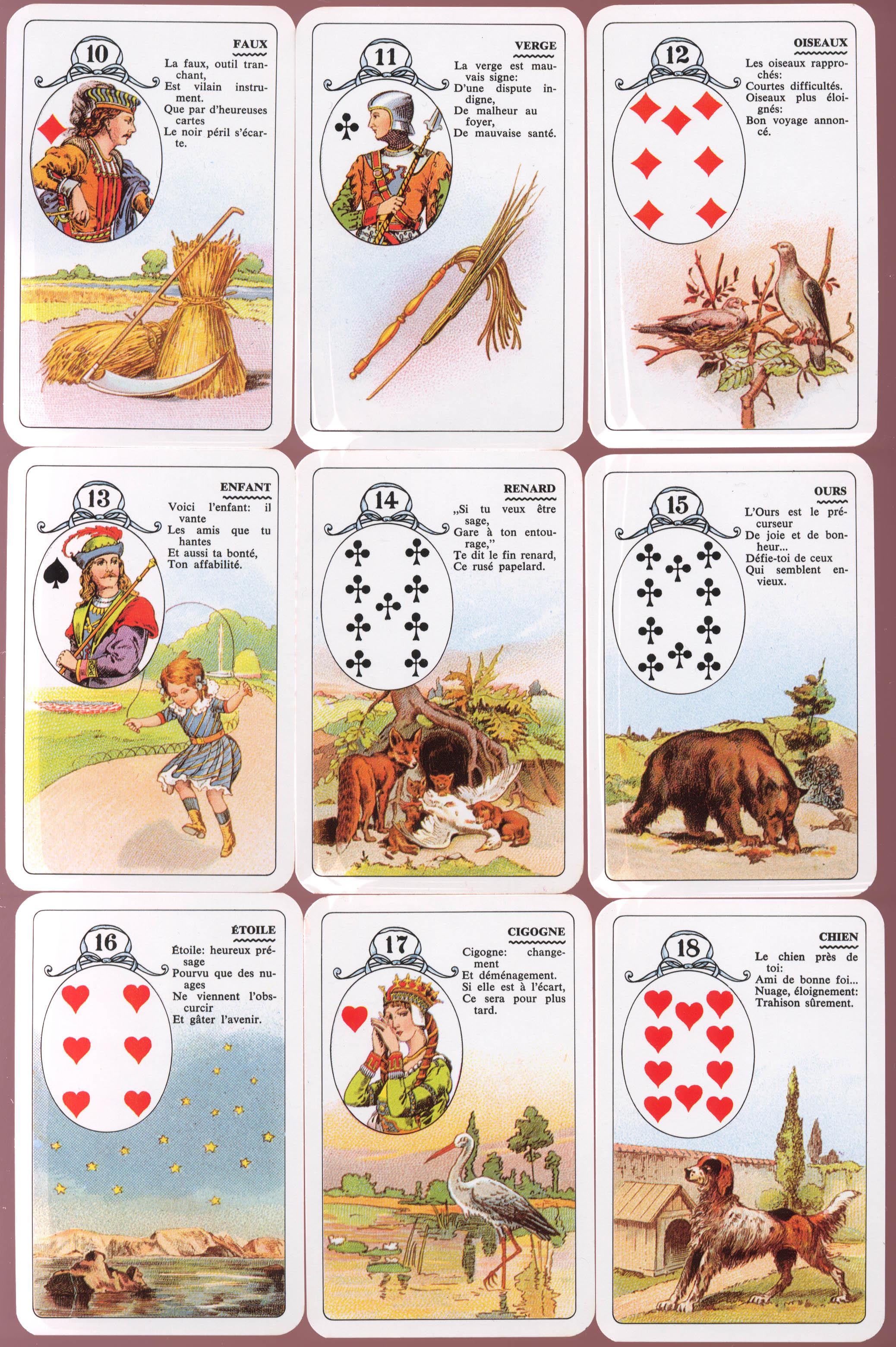 3d77033147011e Ce jeu divinatoire se base sur trois grands principes dictés par la  cartomancienne Mademoiselle Lenormand  1) On utilise une lame pour  représenter le ...